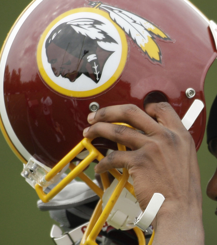 Washington has an offensive NFL nickname, but a compromise with the same helmet would work.