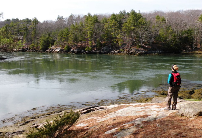 The Ovens Mouth Preserve in Boothbay will be a perfect place to spend National Trails Day on June 7. A fascinating history of land trusts in Maine will be delivered during a two-mile hike through the west side of the 146-acre parcel. Photos by Carey Kish