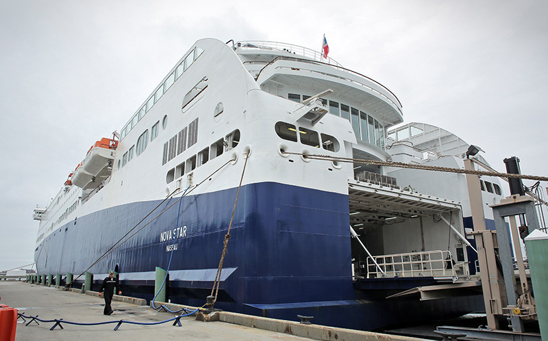 Passenger numbers were low in May for the Nova Star, which travels between Portland and Yarmouth, Nova Scotia. Officials expect more passengers as the weather warms up.