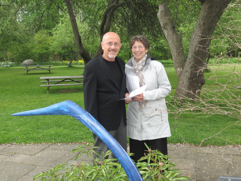 Sculpture collectors Dick Hallstein and Marilyn Bronzi of Yarmouth.