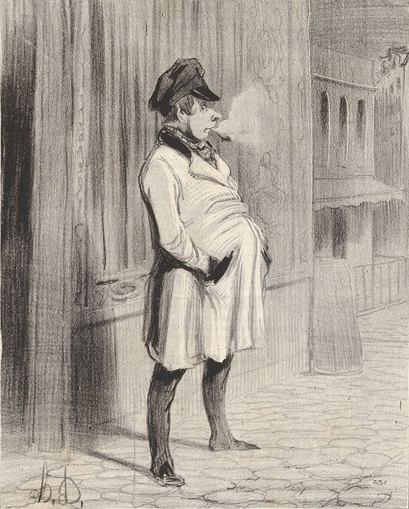 """Paid applause is a custom that goes back centuries. In France, a group of professional applauders came to be known as a claque, and a member of the group was a claqueur. """"Le Claqueur"""" was drawn by the French artist Honoré Daumier in 1842. Courtesy photo"""