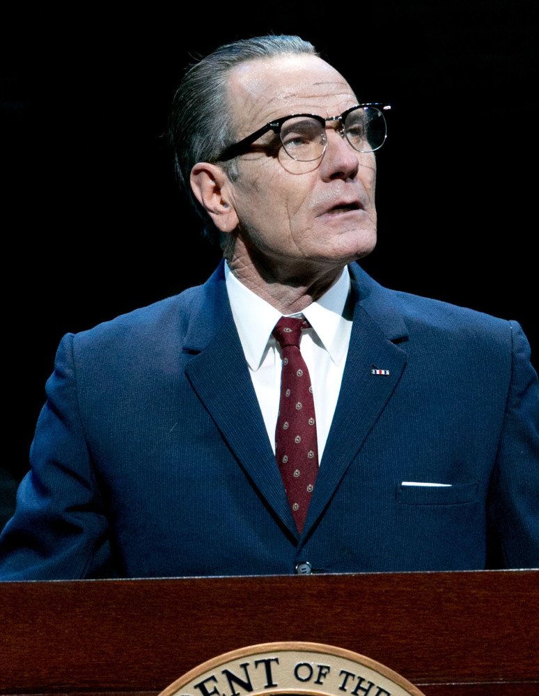"The Associated Press Bryan Cranston portrays President Lyndon B. Johnson during a performance of ""All the Way,"" for which he won a best actor Tony Award on Sunday in New York."