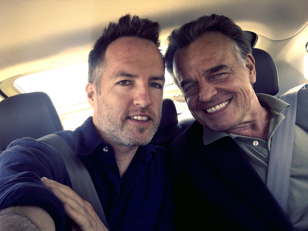 """Kyle Rankin with veteran actor Ray Wise, who is in Rankin's new Maine-made film """"Night of the Living Deb.""""  Courtesy photo"""