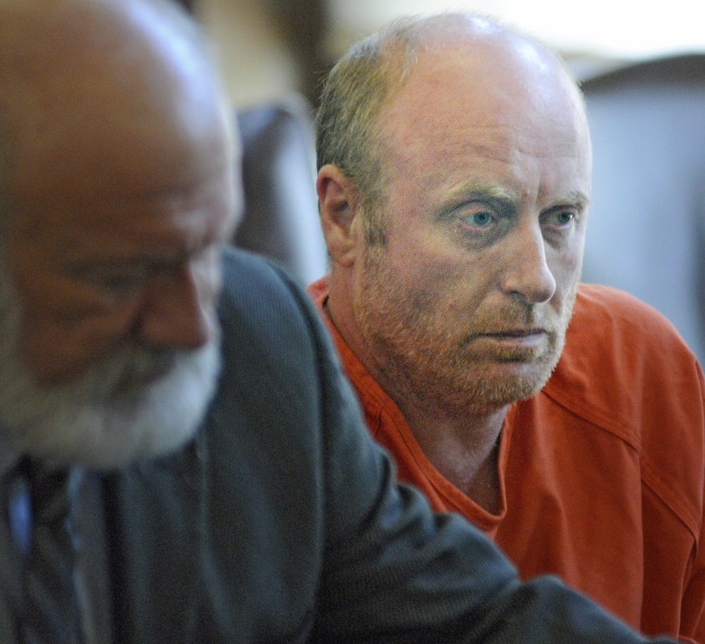 Roland Cummings, 44, appears Monday in Kennebec County Superior Court on a charge of murder in connection with the death of Aurele Fecteau. Andy Molloy/Staff Photographer
