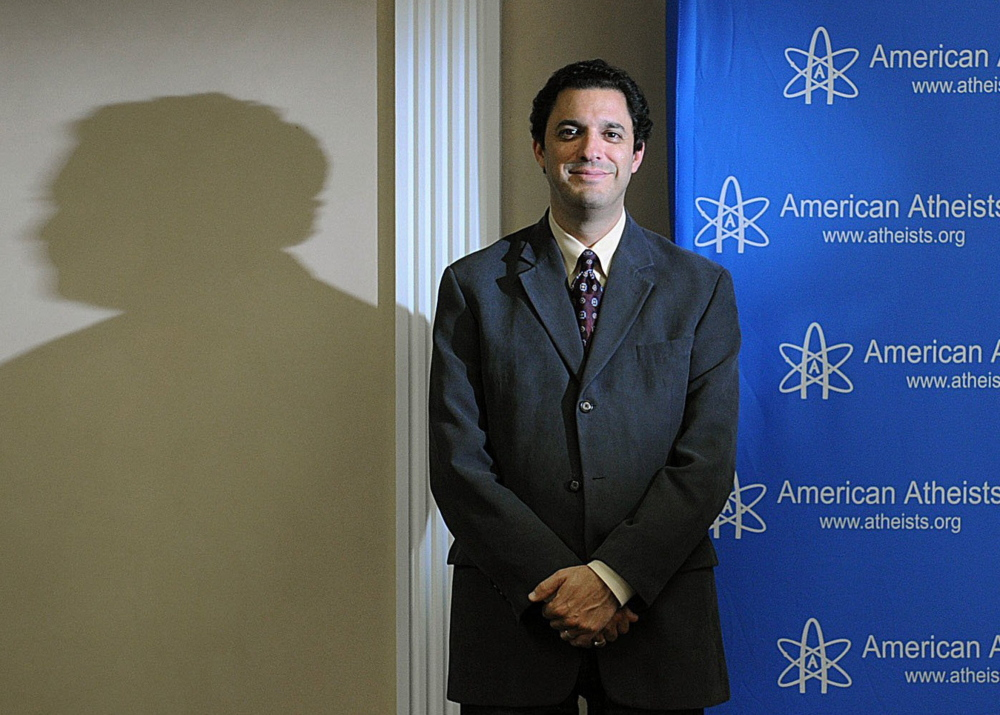 "David Silverman, president of the American Atheists organization based in Cranford, New Jersey, says, ""We want atheism to be as normal in America as Christianity or Judaism."""