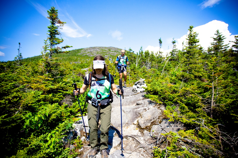 mountain hike: Participants in the Untamed New England Adventure Race test their skills in a number of outdoor activities in the 200-mile event, including hiking through elevated terrain.