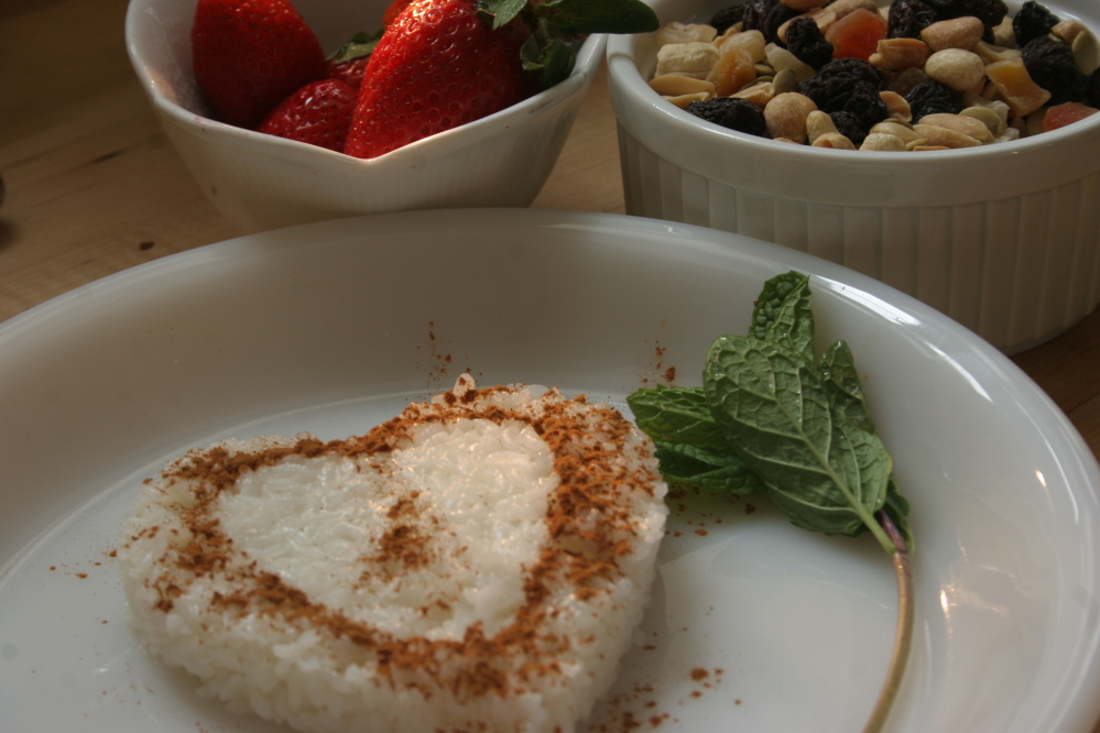 Vegan sticky rice with coconut milk