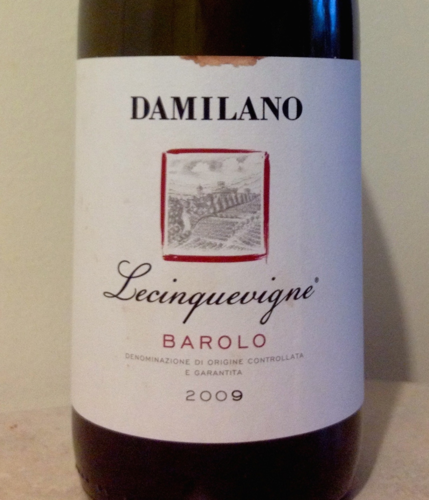 Damilano's Lecinquevigne 2009 gets better over two or three days after it's opened, but also is excellent after being open a half-hour at a restaurant.