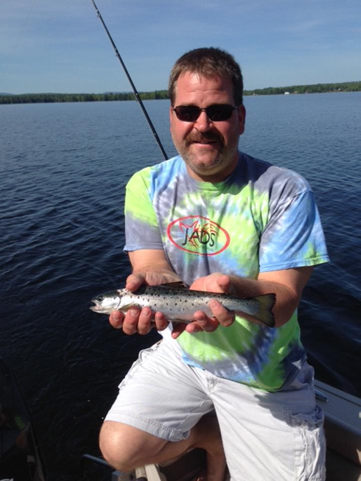 Michael Kucsma is shown June 1 on Mooselookmeguntic Lake in Rangeley. He was an avid fisherman.