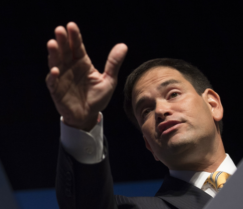 """Sen. Marco Rubio, R-Fla., spoke of the """"obligation to our country and to our fellow man to use our positions of influence to highlight Judeo-Christian values."""""""