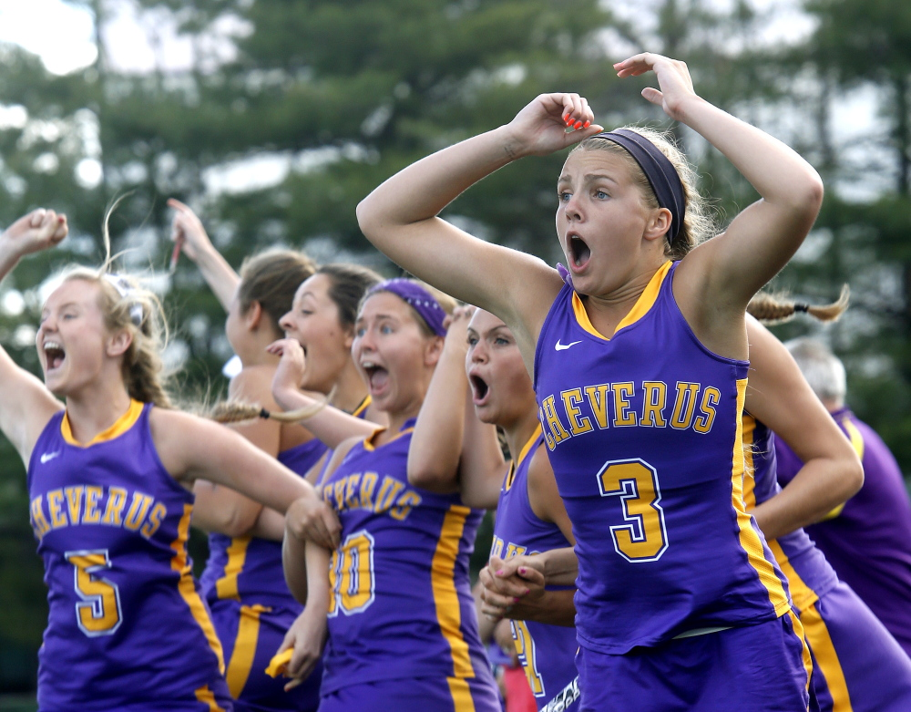 Cheverus had few smiles after its sudden-death overtime loss to Massabesic, but there were plenty when Alex Logan scored to tie the game with 19 seconds remaining in regulation.