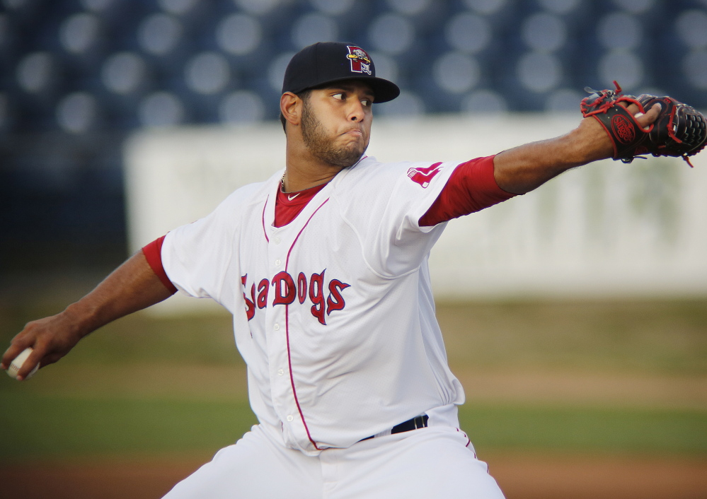 Luis Diaz will pitch for the Sea Dogs on Sunday in Game 5 of the division playoff series.