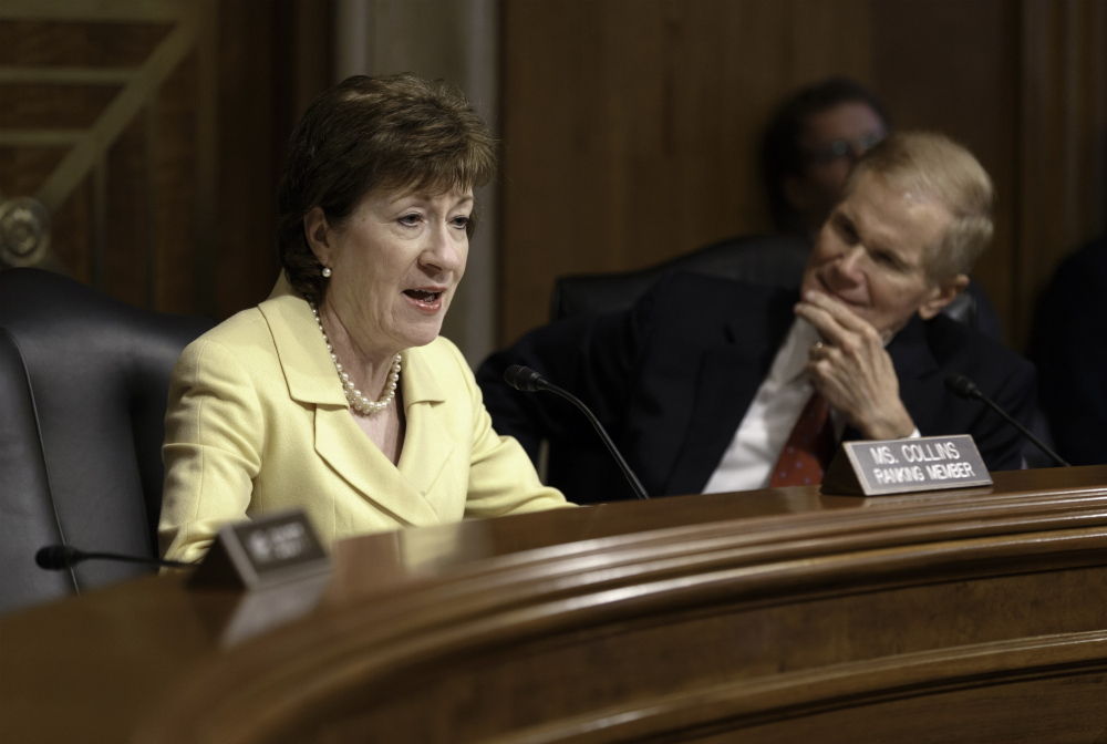 """In a written statement Wednesday, Sen. Susan Collins said: """"A number of states, including my home state of Maine, have now legalized same-sex marriage, and I agree with that decision."""""""