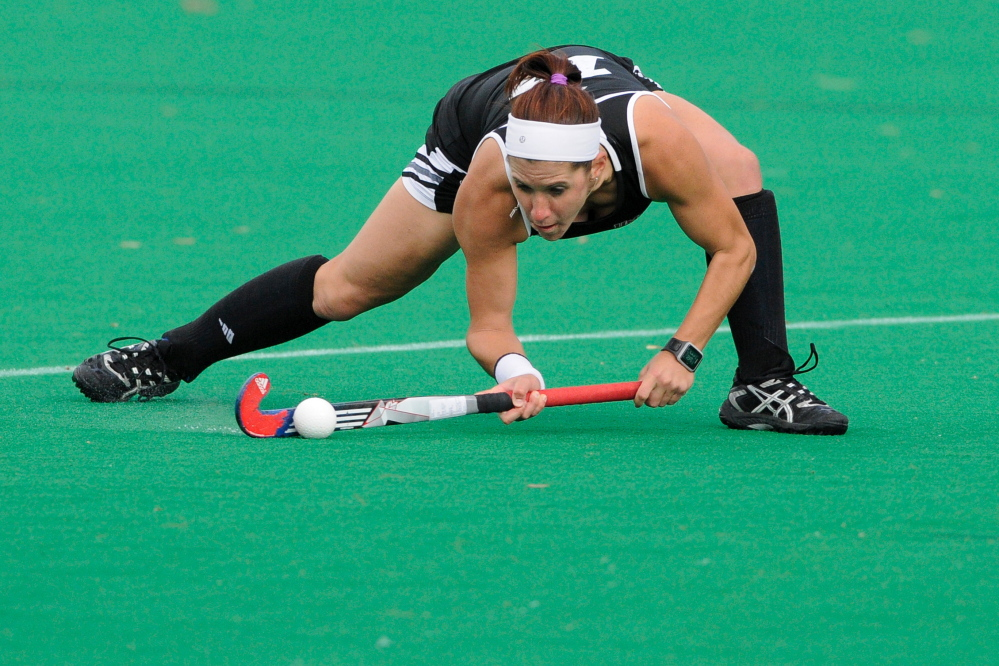 Hannah Prince, who was the state's top field hockey player while with Gorham High in 2009, has been named to the national team after four sparkling seasons at the University of Massachusetts, and is hoping to earn a spot on the team for international tournaments.