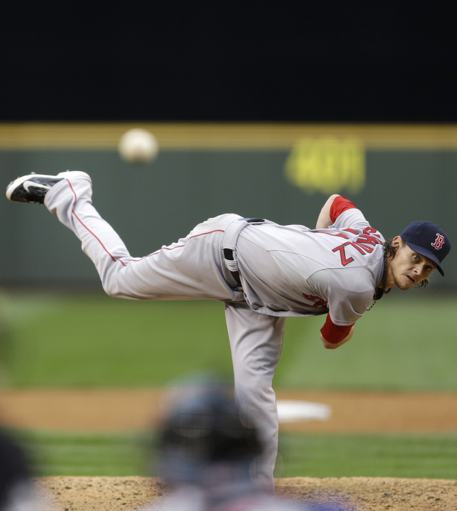 Boston starting pitcher Clay Buchholz has the best stuff on the staff.