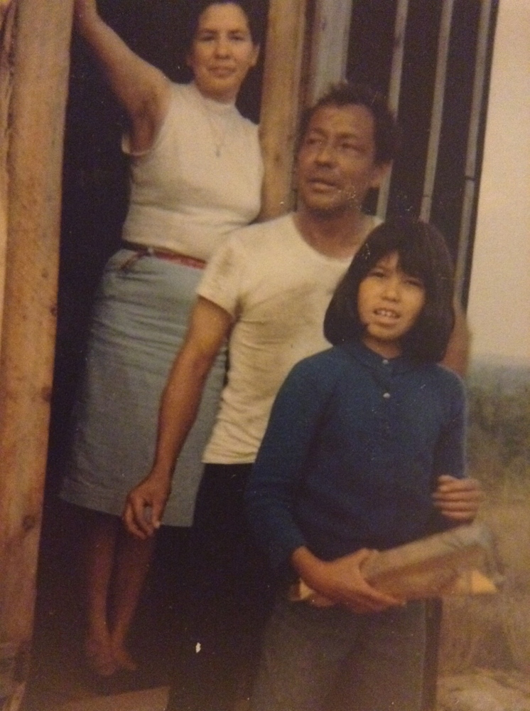 Christopher Altvater, his wife, Rita and daughter, Lisa, in the summer of 1965. Violence would break out in their dooryard in November of that year.
