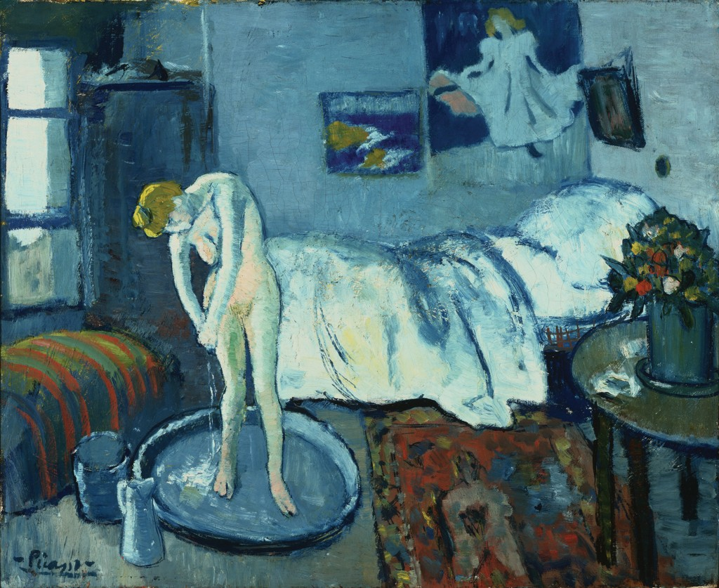 """Pablo Picasso''s """"The Blue Room,"""" painted in 1901, has another image underneath it. The Associated Press/The Phillips Collection"""