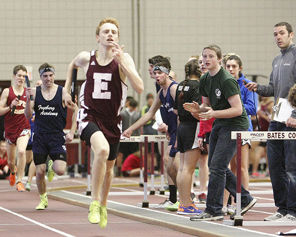 Boys' Indoor Track: Dan Curts from Ellsworth High School.