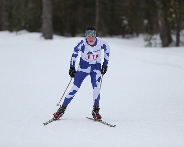 Boys' Skiing: Braden Becker from Yarmouth High School.