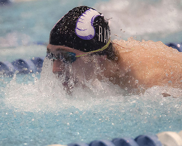 Boys' Swimming: Eric Delmonte from Deering High School.