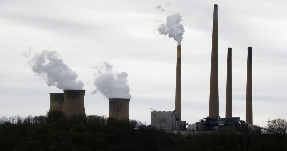 This file photo taken May 5, 2014 shows the stacks of the Homer City Generating Station in Homer City, Pa., one of the nation's dirtiest coal-fired power plants. Such power plants could be subject to new rules to limit and reduce global warming pollutants. The Associated Press