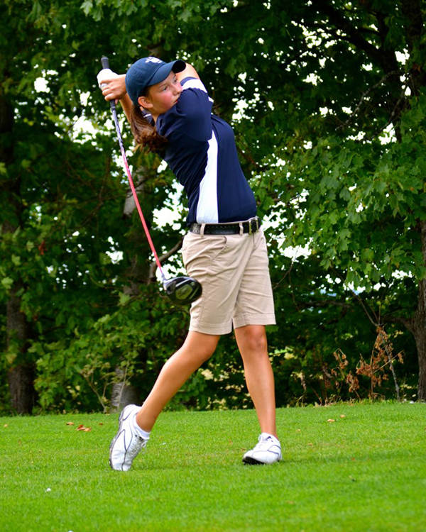 Girls' Golf: Jenna Hallett from Presque Isle High School.