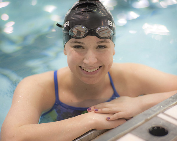 Girls' Swimming: Emma Waddell from Bangor High School.
