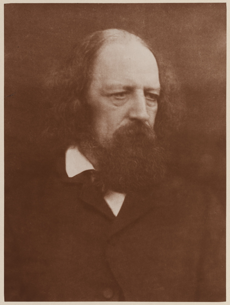 This is a carbon print copy of the Jewett House photograph, owned by the Museum of Fine Arts in Boston, by Julia Margaret Cameron (English, 1815–1879) of Alfred, Lord Tennyson.