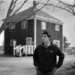 """Michael-Corey Francis Hinton, a Passamaquoddy Indian living and working as a lawyer in Washington, D.C., visits the spot in eastern Maine where his great-grandfather, Peter Francis, was killed in 1965. Hinton has been lobbying the Department of Justice to reopen the case. """"There will be justice done,"""" he says."""