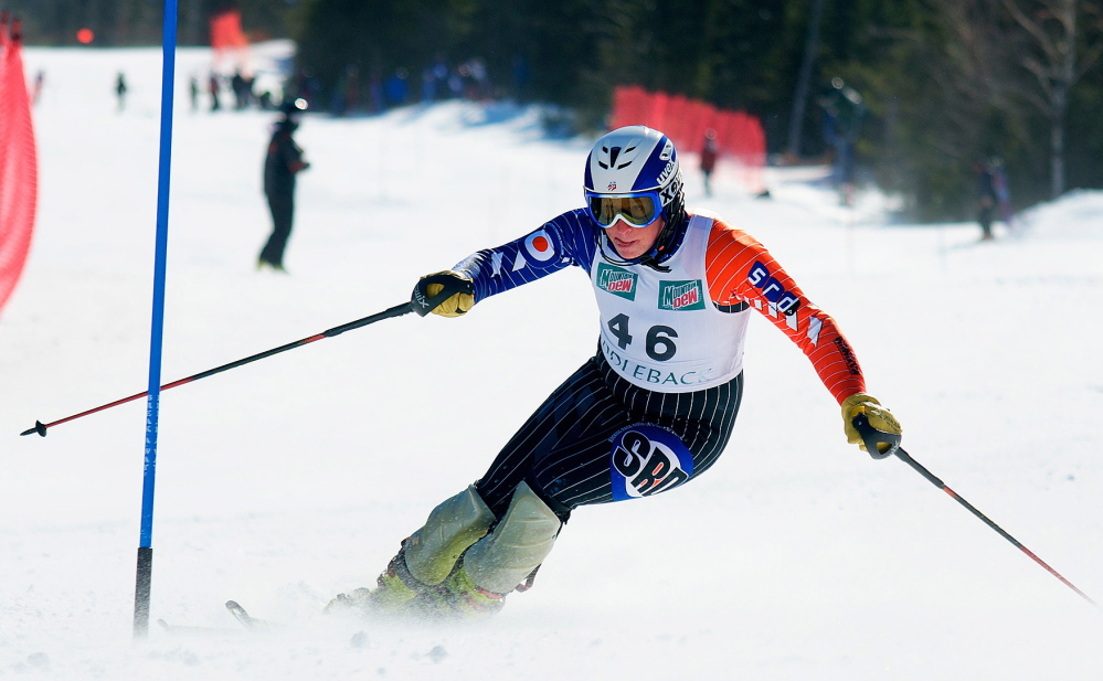 Sam Morse attacks the slopes in the same manner as Bode Miller, a former Carrabassett Valley Academy skier.
