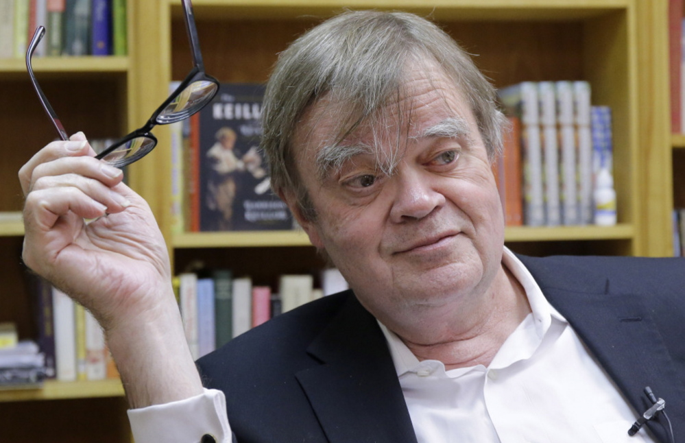 """Garrison Keillor says, """"I avoid getting choked up"""" as he approaches the 40th anniversary of """"Prairie Home Companion."""""""