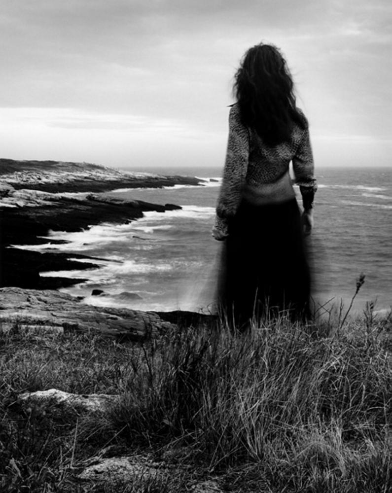 "Alexandra de Steiguer's ""Windblown No. 5, Self Portrait, Star Island."""
