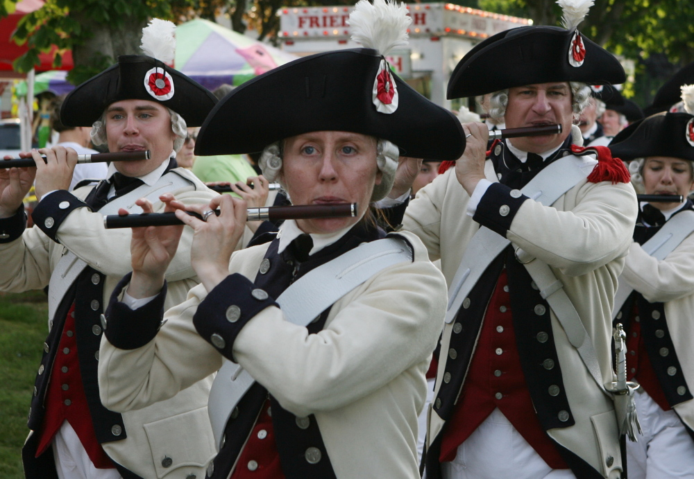 The Middlesex County Volunteers Fifes & Drums is based in Boston and plays music from the American Revolution and other eras.