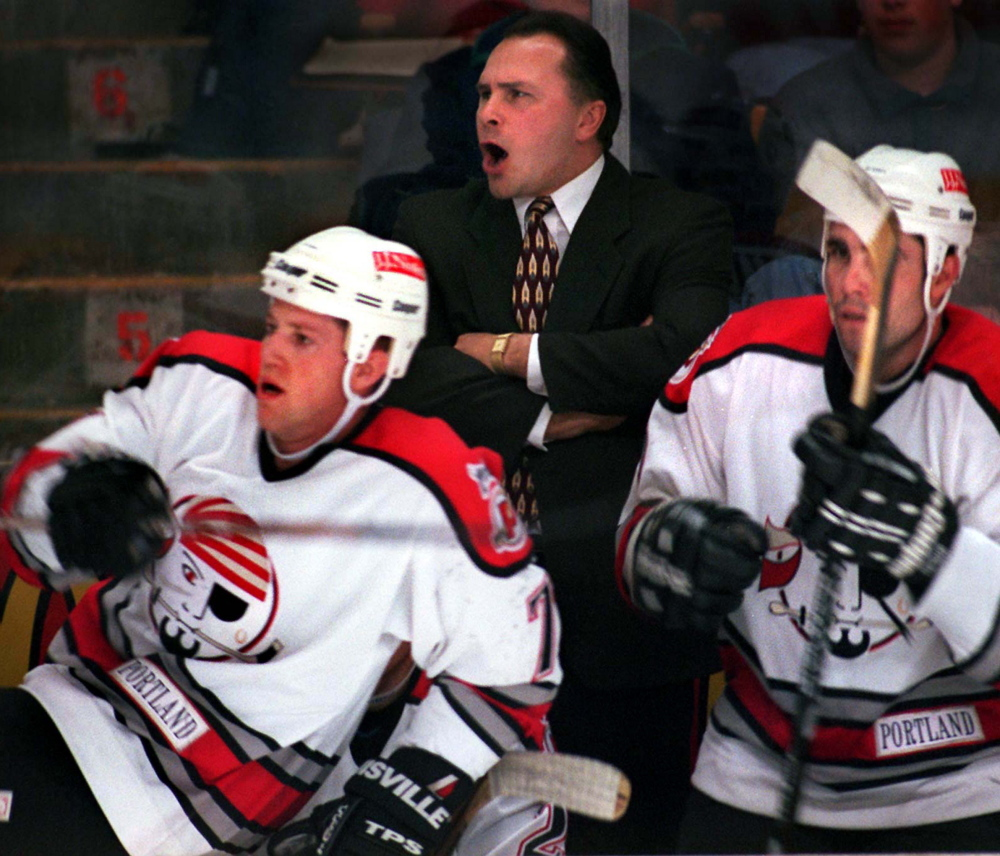 Barry Trotz was behind the Portland Pirates' bench for four seasons, winning the Calder Cup in the team's first year in 1993-94, then reaching the finals again two years later, losing in seven games to the Rochester Americans.