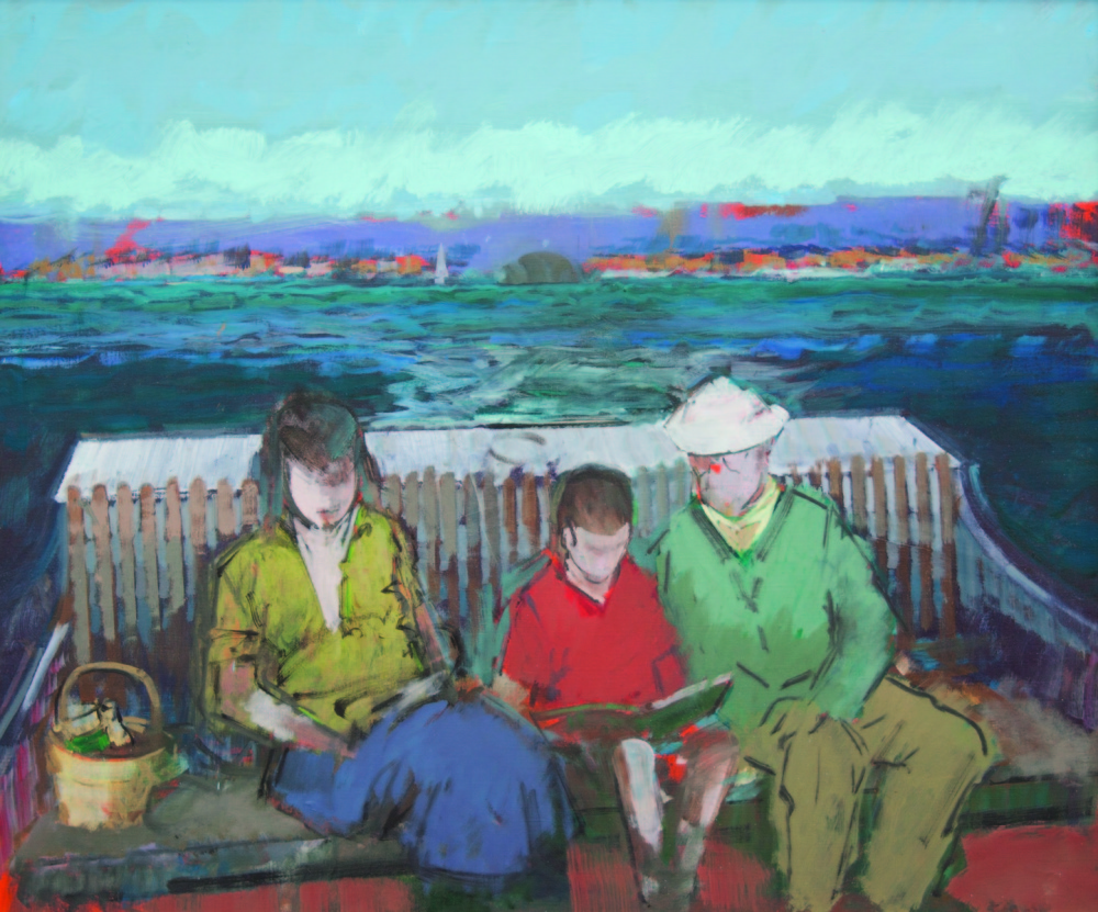 """""""The Boat Ride,"""" 1979. Photo courtesy of Courthouse Gallery Fine Art"""