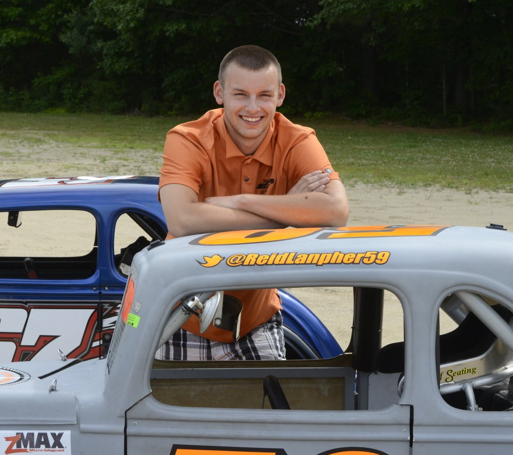 Reid Lanpher, 17, is making his first appearance at the New Hampshire Motor Speedway on Sunday.