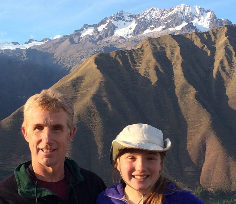 Brian Delaney and his daughter, Hana, spent time in the mountains of Peru this summer.