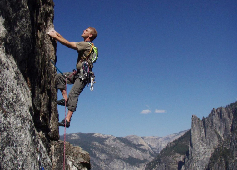 Brian Delaney climbs the East Buttress of El Capitan in Yosemite National Park last year.