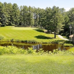 The 11th hole on Val Halla, a par 3, provides enough water to make you focus while hitting to an elevated tee. The hole also is picturesque, with the largest green on the course.