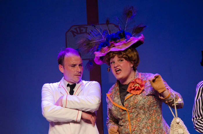 """Dan Clay as Harold Hill and Tanya West as Eulalie Shinn perform in """"Music Man."""""""