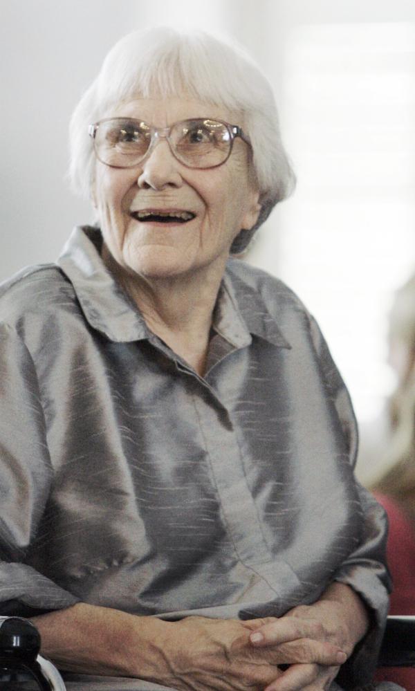 "Harper Lee, author of ""To Kill a Mockingbird."""