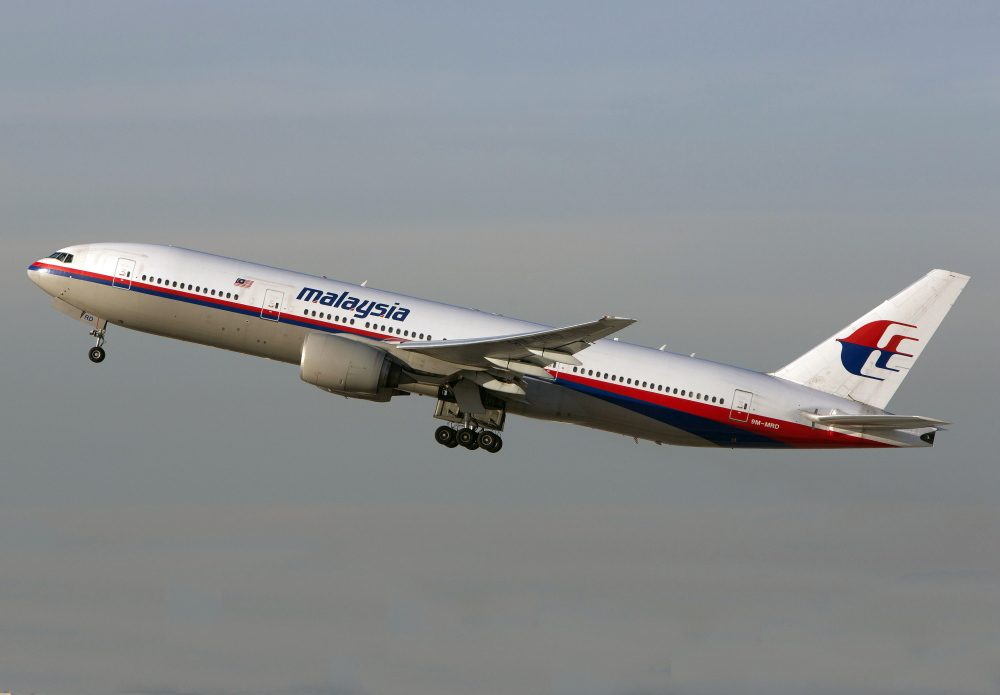 A Malaysia Airlines Boeing 777-200 takes off from Los Angeles International Airport in Los Angeles. The plane, with the tail number 9M-MRD, is the same aircraft that was heading from Amsterdam to Kuala Lumpur on Thursday when it crashed.