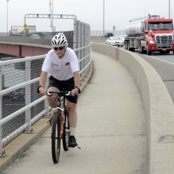 Small sections of the protected sidewalk along the Casco Bay Bridge will be closed to bicyclists and pedestrians during repairs, rather than the complete sidewalk closure originally planned by the Maine DOT.