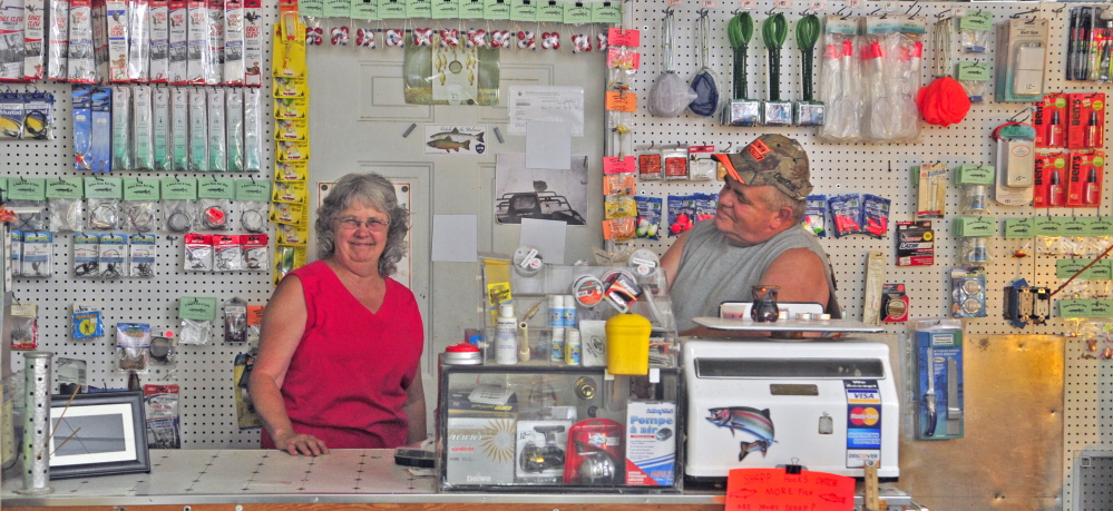 June and Dave Bubier are finding fulfillment – and a modest living – at their Baker's Dozen Bait Shop in Winthrop.