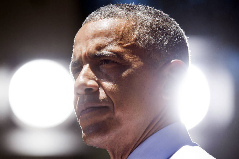 President Barack Obama pauses as he speaks about the economy at the Los Angeles Trade-Technical College in Los Angeles on Thursday, the final day of a three-day West Coast trip.