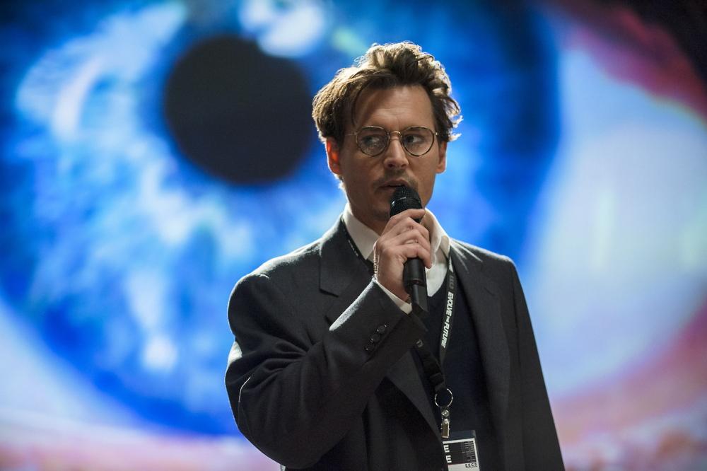 "Johnny Depp plays a scientist in peril in ""Transcendence."""