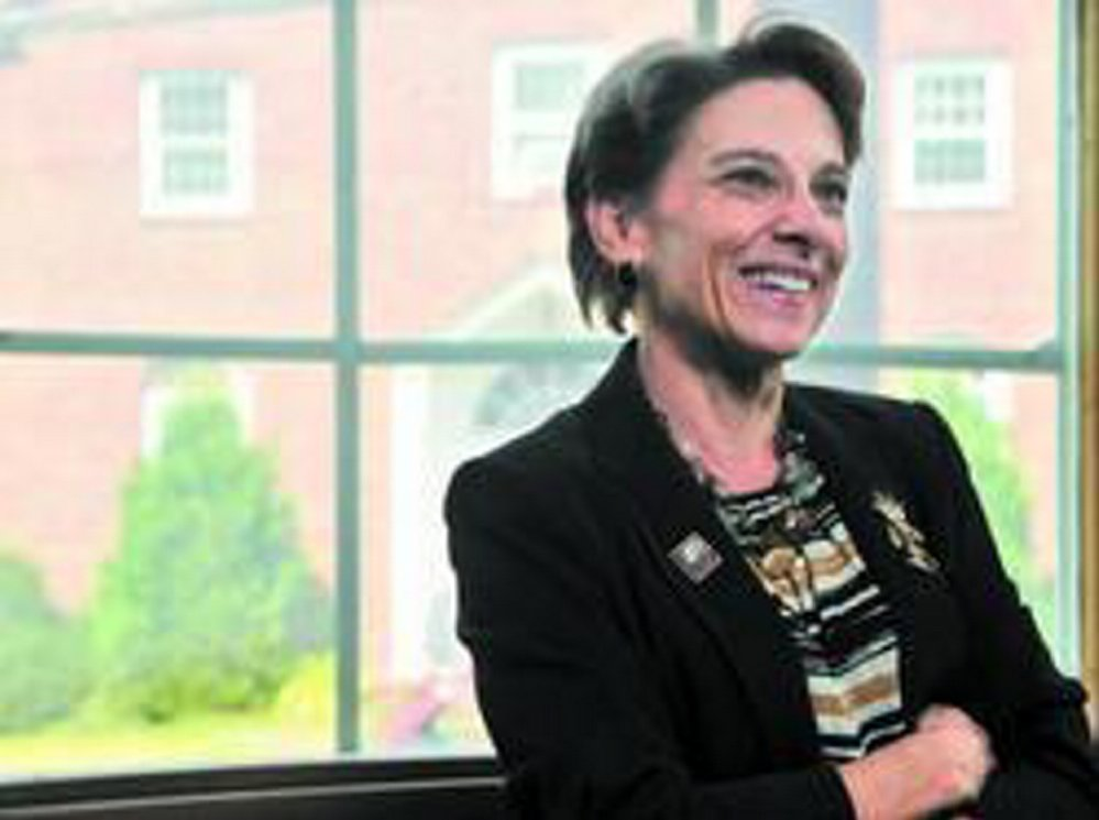 Now in her third year as president of the University of Maine at Farmington, Kathryn Foster leads a committee that seeks to streamline course offerings in the state university system while simultaneously offering broader access to students at the seven campuses.