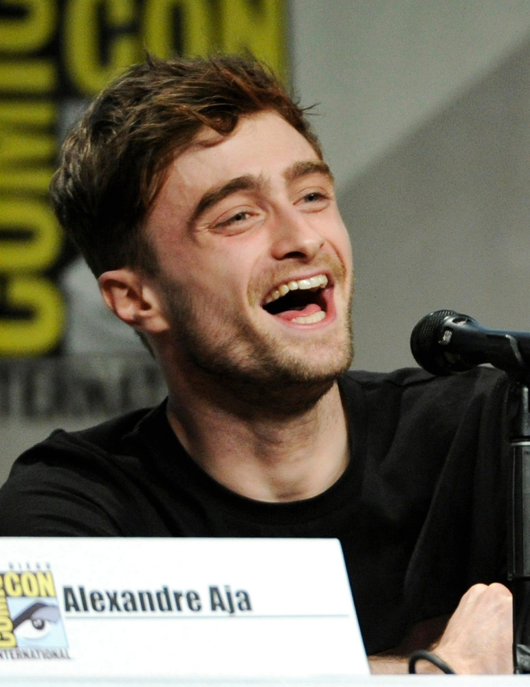 """Daniel Radcliffe attends the RADiUS-TWC """"Horns"""" panel on Day 2 of Comic-Con International on Friday."""