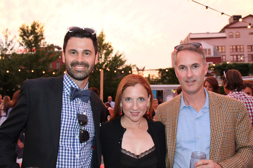 Left to right: Steve Kelly, associate publisher of Maine Magazine with Kevin and Elizabeth Hunt of Falmouth.