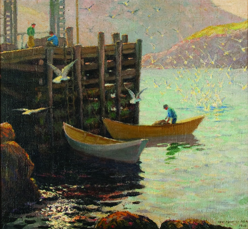 "Woodhull Adams' ""Below the Wharf"" Courtesy The Monhegan Museum"